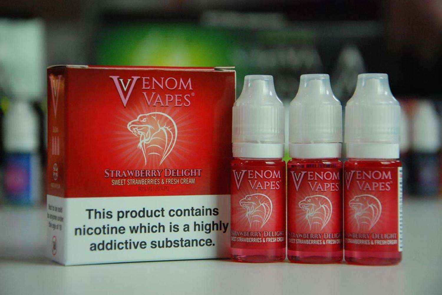 Venom Vape - Strawberry Delight 3x10ml
