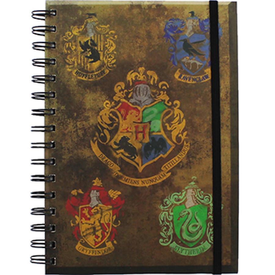 Harry Potter - Hogwarts Crests A5 Notebook