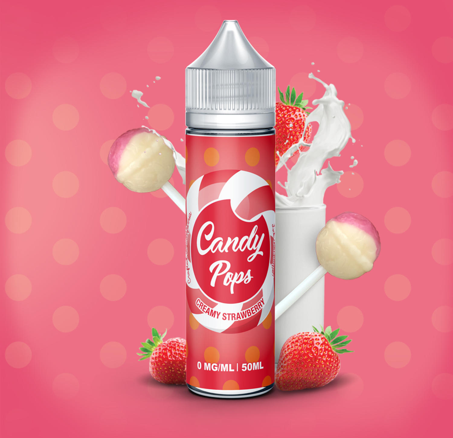 Candy Pops Creamy Strawberry