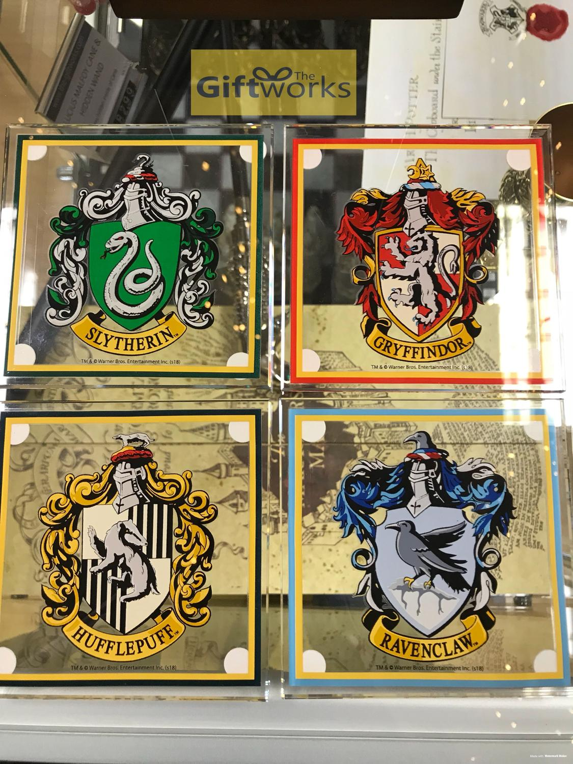 Harry Potter House Crest Glass Coasters